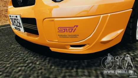 Subaru Impreza WRX STI 2005 pour GTA 4 roues