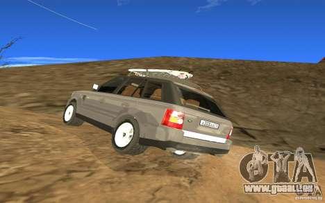 Land Rover Range Rover pour GTA San Andreas sur la vue arrière gauche