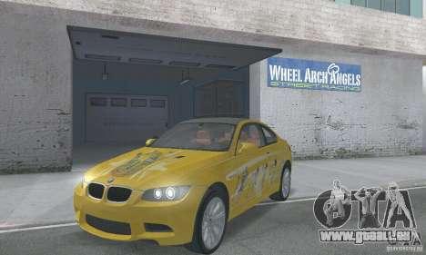 BMW M3 E92 Stock für GTA San Andreas Unteransicht