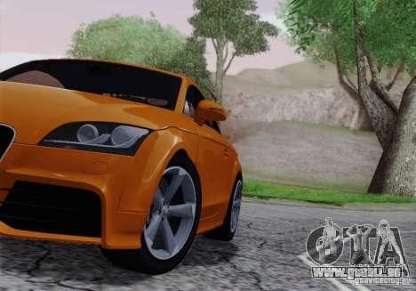 Audi TT-RS Coupe pour GTA San Andreas vue intérieure