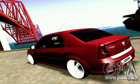 Dacia Logan 2008 pour GTA San Andreas vue de droite
