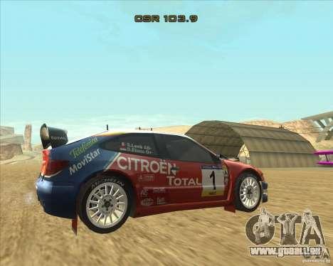 Citroen Xsara WRC pour GTA San Andreas laissé vue