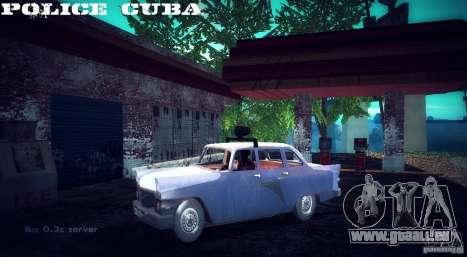 Police gaz 13 Cuba pour GTA San Andreas sur la vue arrière gauche
