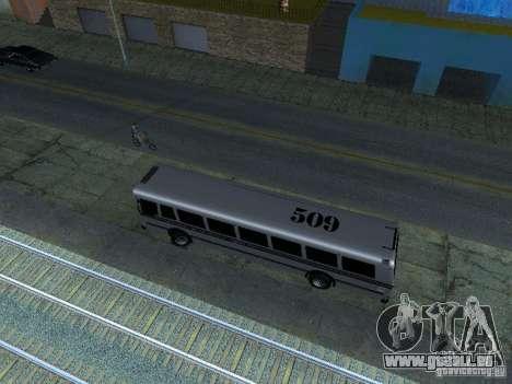 Prison Bus für GTA San Andreas Rückansicht