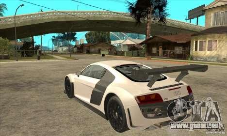 Audi R8 LMS v1 für GTA San Andreas zurück linke Ansicht