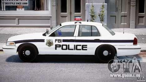 Ford Crown Victoria FBI Police 2003 pour GTA 4 Vue arrière de la gauche