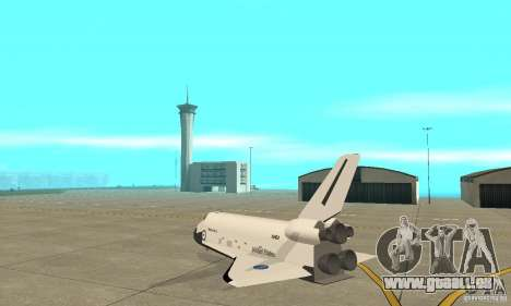 Space Shuttle Discovery für GTA San Andreas zurück linke Ansicht