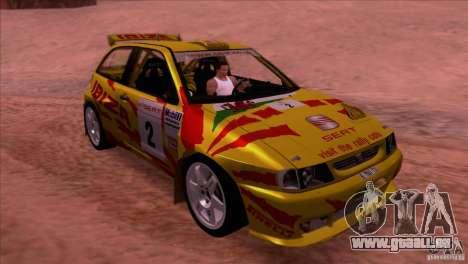 Seat Ibiza Rally für GTA San Andreas Seitenansicht
