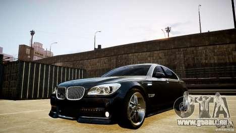 BMW 750Li (F02) Hamann 2010 v2.0 pour GTA 4 est une vue de l'intérieur