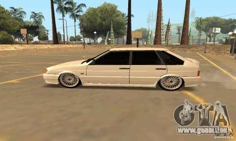 ВАЗ 2114 Dag Style pour GTA San Andreas laissé vue