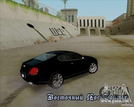 Bentley Continental GT V1.0 pour GTA San Andreas moteur