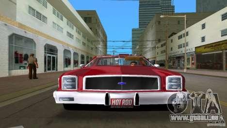 Chevrolet El Camino Idaho pour GTA Vice City sur la vue arrière gauche