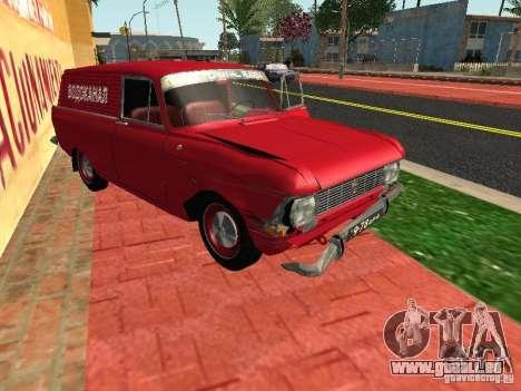 Moskvich 434 pour GTA San Andreas vue arrière