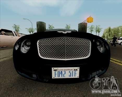 Bentley Continental GT V1.0 für GTA San Andreas Unteransicht