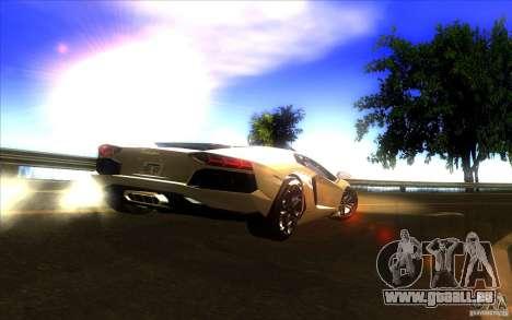 Lamborghini Aventador LP700-4 pour GTA San Andreas vue de dessus
