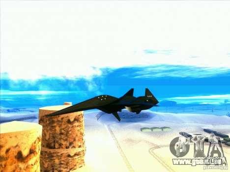 ADF-01 Falken pour GTA San Andreas vue intérieure