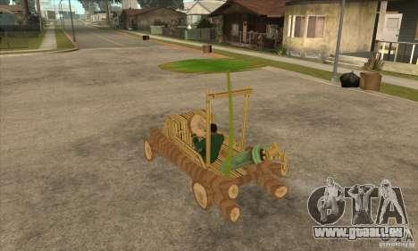 New Police Madagascar pour GTA San Andreas sur la vue arrière gauche