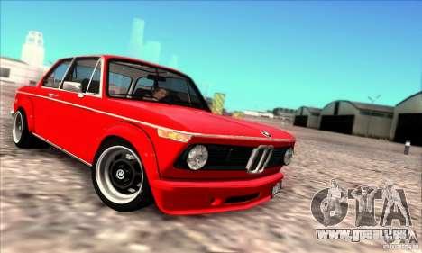 BMW 2002 Turbo für GTA San Andreas zurück linke Ansicht