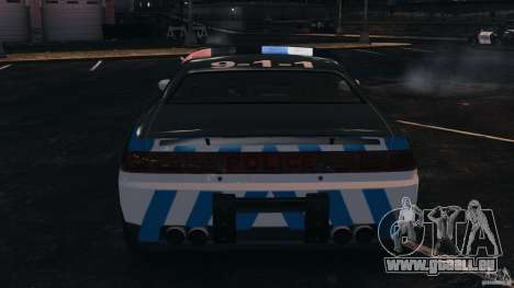 NFSOL State Police Car [ELS] pour GTA 4 vue de dessus
