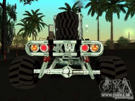 Kenworth W900 Monster pour GTA San Andreas sur la vue arrière gauche