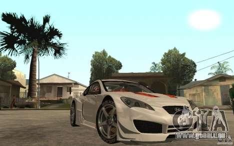 Hyundai Genesis Coupe Pikes Peak pour GTA San Andreas vue arrière