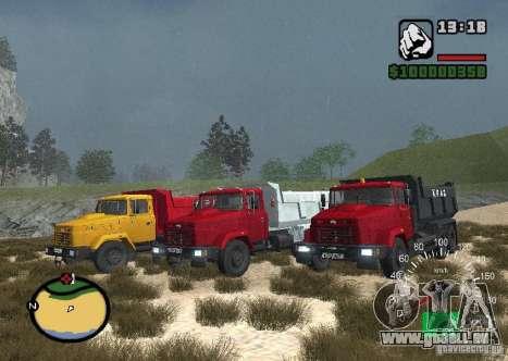 Camion KrAZ 65055 pour GTA San Andreas laissé vue