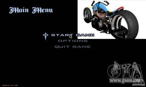 Laden-Bildschirme und Menüs im Stil von Motorrad für GTA San Andreas fünften Screenshot