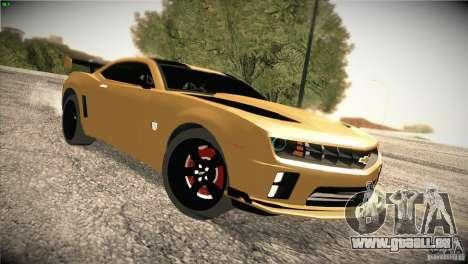 Chevrolet Camaro SS Transformers 3 pour GTA San Andreas vue arrière