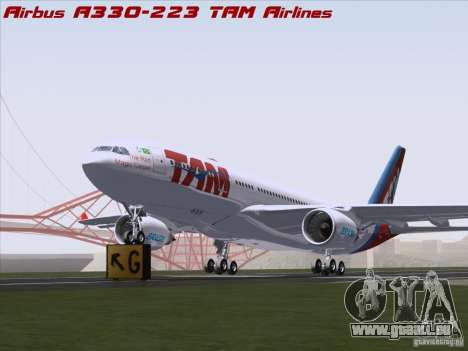 Airbus A330-223 TAM Airlines pour GTA San Andreas