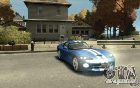 Dodge Viper GTS pour GTA 4 Vue arrière