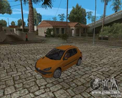 Peugeot 306 pour GTA San Andreas vue arrière