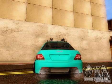 Mitsubishi Lancer für GTA San Andreas Innenansicht