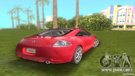 Mitsubishi Eclipse GT 2007 pour GTA Vice City sur la vue arrière gauche