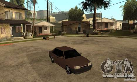21099 Coupé de Lada ВАЗ pour GTA San Andreas vue arrière