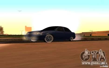 Tuning de voiture LADA PRIORA pour GTA San Andreas vue intérieure