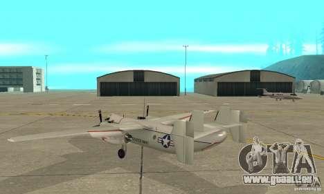 C-2 Greyhound pour GTA San Andreas sur la vue arrière gauche