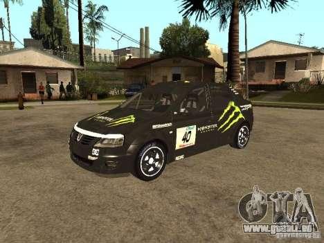 Dacia Logan Rally Dirt pour GTA San Andreas vue de côté