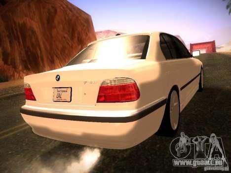 BMW 730i e38 1997 pour GTA San Andreas laissé vue
