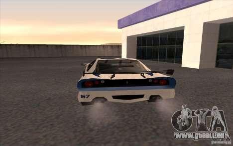 Le nouveau Turismo pour GTA San Andreas sur la vue arrière gauche