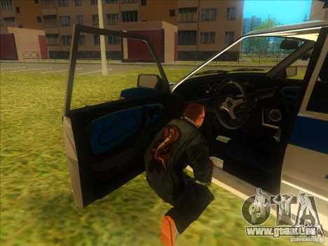 Ваз 2114 russische Polizei für GTA San Andreas Rückansicht
