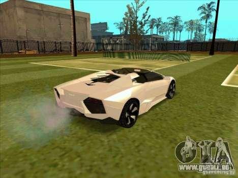 Lamborghini Reventon Convertible pour GTA San Andreas vue de droite