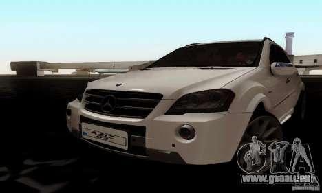 Mercedes Benz ML63 AMG pour GTA San Andreas sur la vue arrière gauche