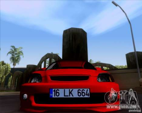 Honda Civic 16 LK 664 pour GTA San Andreas laissé vue