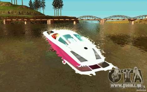 Mamba Speedboat pour GTA San Andreas sur la vue arrière gauche