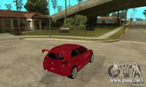 Alfa Romeo 147 pour GTA San Andreas vue de droite