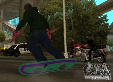 Hoverboard bttf für GTA San Andreas linke Ansicht