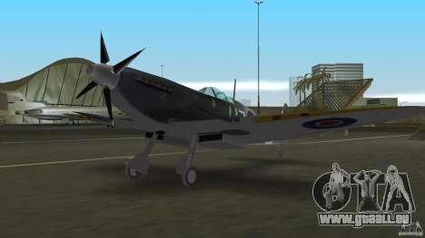 Spitfire Mk IX pour GTA Vice City sur la vue arrière gauche
