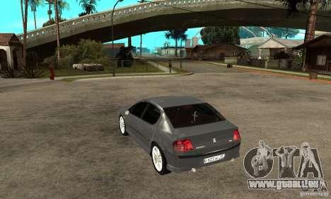 Peugeot 407 pour GTA San Andreas sur la vue arrière gauche
