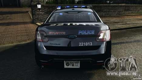 Ford Taurus 2010 Atlanta Police [ELS] pour le moteur de GTA 4