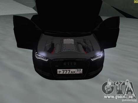 Audi A6 (C7) pour GTA San Andreas vue intérieure